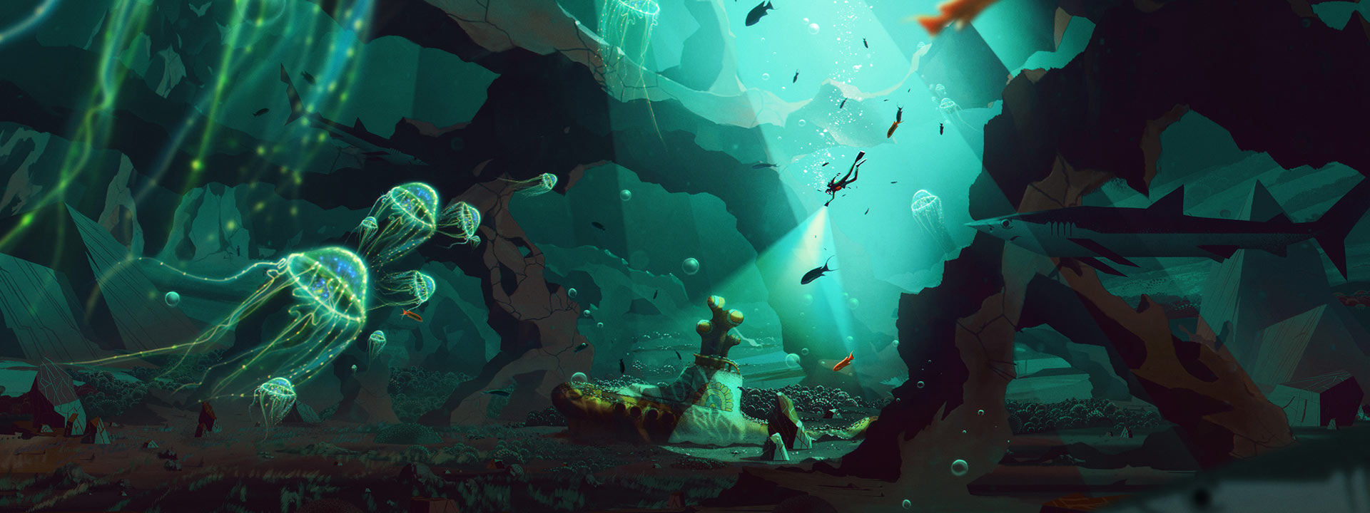 Life aquatic with Yellow Submarine